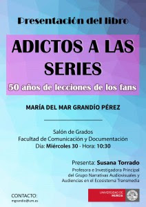 """Presentación del libro: """"Adictos a las series""""."""