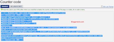 cara menambahkan widget histats di blog