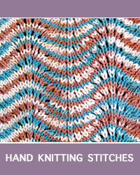 Learn Old Shale Lace Pattern with our easy to follow instructions at HandKnittingStitches.com