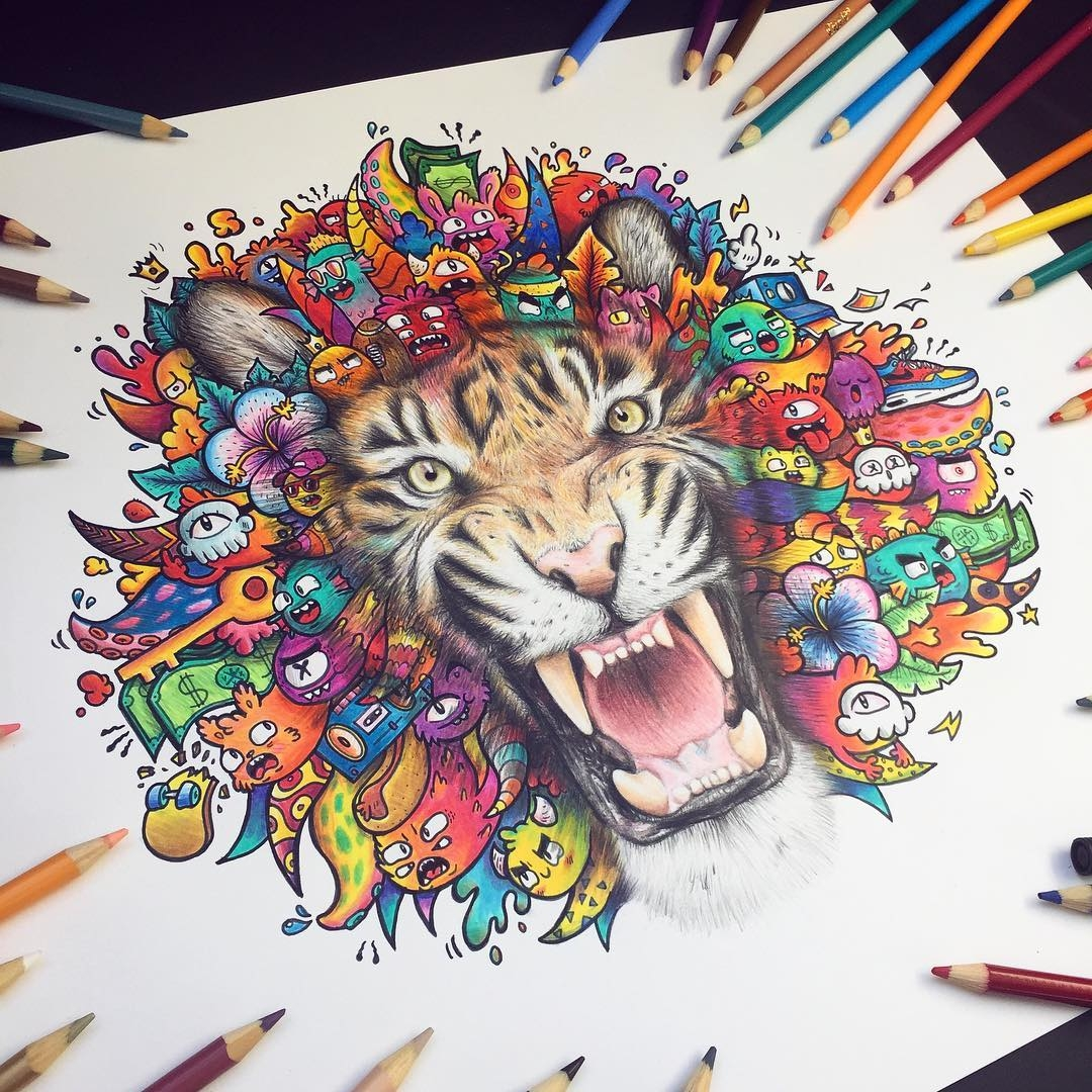 08-Tiger-Vince-Okerman-vexx-Doodle-Drawings-that-Brightenup-your-Day-www-designstack-co