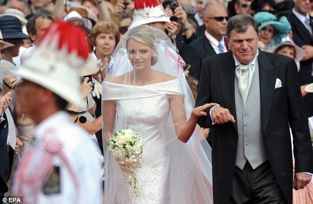Kelly Rowland Hot Princess Charlene Wedding Dress