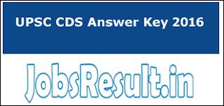 UPSC CDS Answer Key 2016