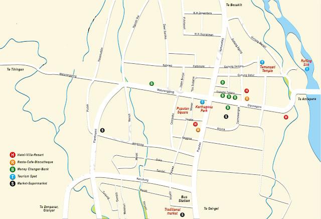 Peta Kabupaten Klungkung Bali Lengkap