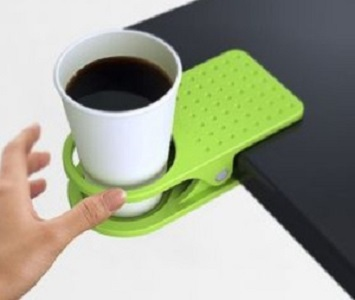 Tempat Minum Meja Plastic Table Coffee Cup Holder Cup Clip