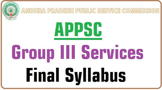 APPSC,Group III Services,Syllabus