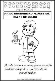 Dia do engenheiro florestal para colorir