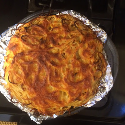 The Dreams Weaver ~ Cheesy Spaghetti Pie