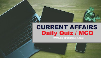 Daily Current Affairs Quiz - 9th January 2018