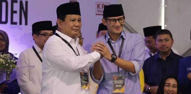 Prabowo-Sandi Menang di Jakarta Selatan