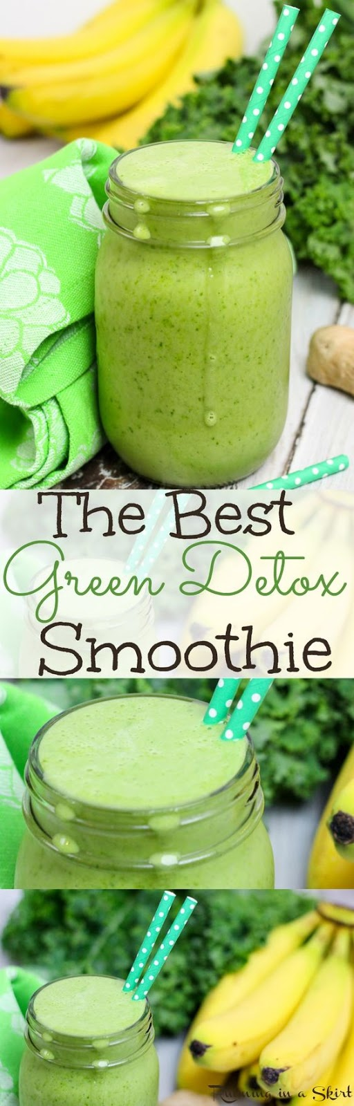 Kale, Pineapple and Ginger Detox Green Smoothie
