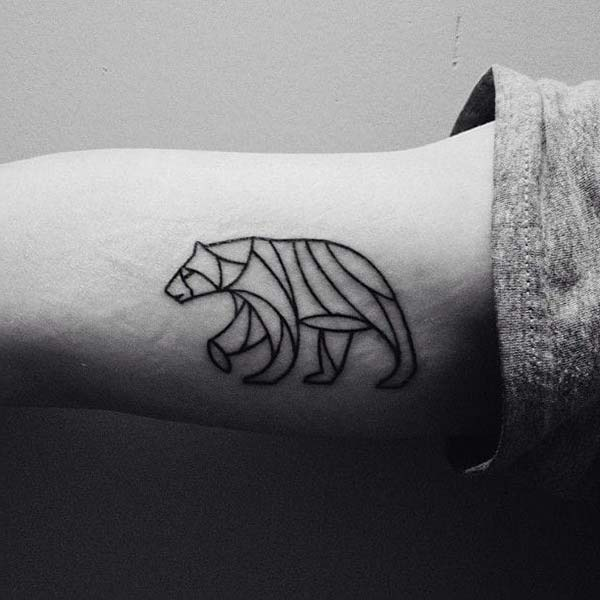 minimal bear tattoo