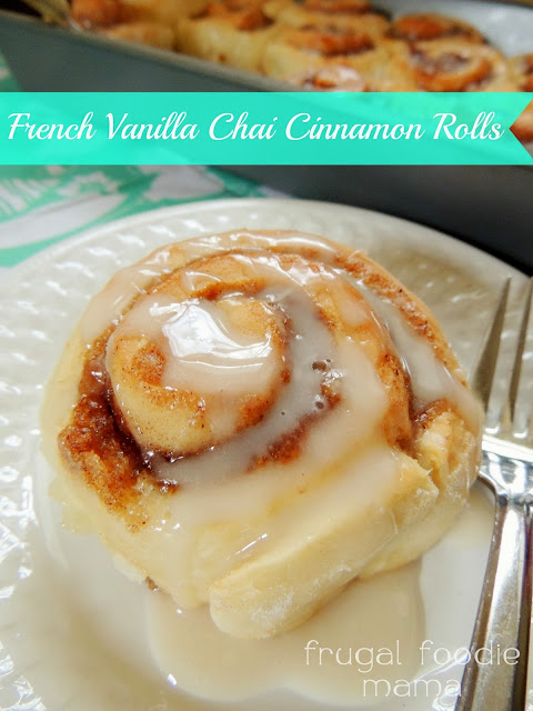 "These French Vanilla Chai Cinnamon Rolls almost guarantee perfect homemade cinnamon rolls with my fail safe ""secret"" ingredient- cake mix!"
