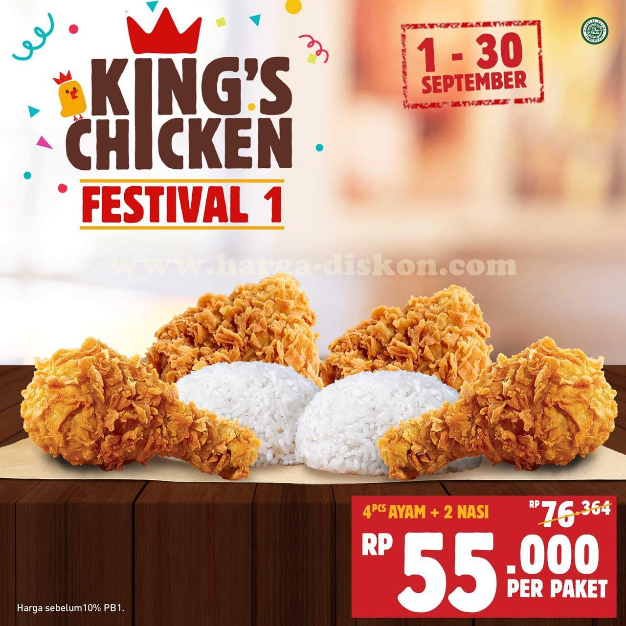 Promo Burger King Terbaru King S Chicken Festival Periode 1 30 September 2018 Harga Diskon