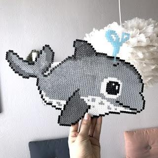 hama boncuğu balina
