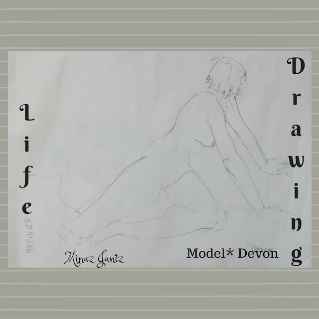 Life Drawing by Minaz Jantz Model Devon