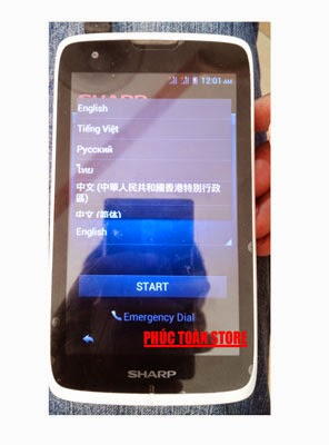 Rom gốc Sharp Sh530U flash done alt
