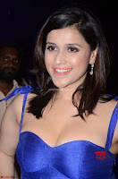 Mannara Chopra in Deep Neck Blue Gown at Zee Telugu Apsara Awards ~  Exclusive 022.jpg