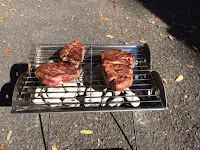 Steaks on UCO Flat Pack Grill