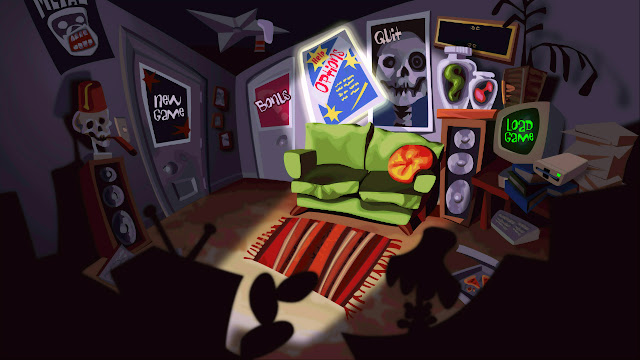 Day of the tentacle remastered main menu screen