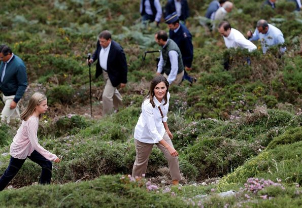 King Felipe VI, Queen Letizia, Infanta Sofia and Crown Princess Leonor visited the Covadonga National Park
