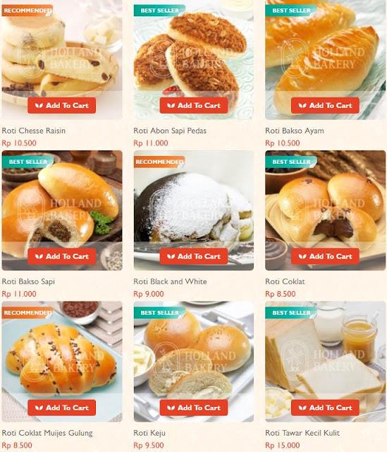 Daftar Harga Kue Holland Bakery Januari 2020 Galgado