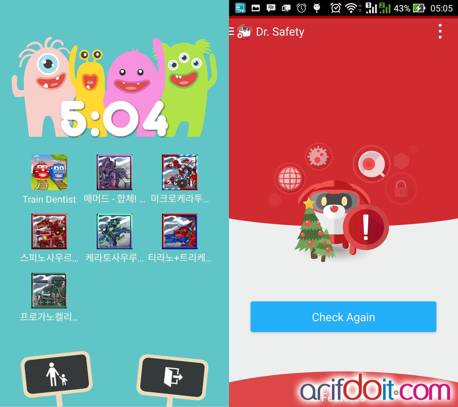 Kids mode & proteksi Trend Micro