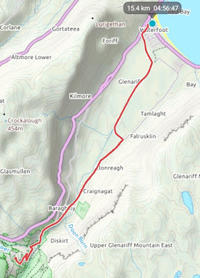 Glenariff hike Viewranger map - Carrie Gault 2018