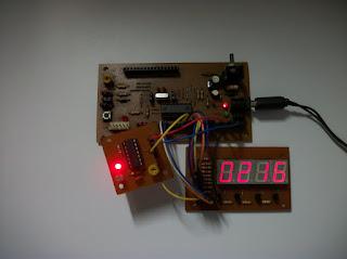 Contador de objetos fotoeléctrico usando módulos.