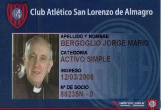Carné de socio de San Lorenzo