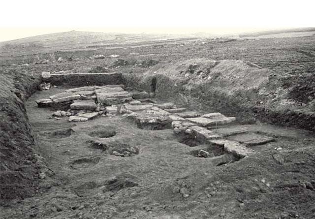 Excavacions de Mont'e Prama durant els anys 1970'