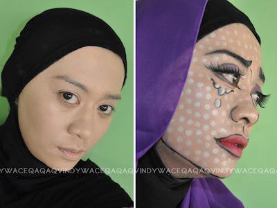 Ini Vindy Yang Ajaib: FOTD : Pop Art Comic Girl Makeup