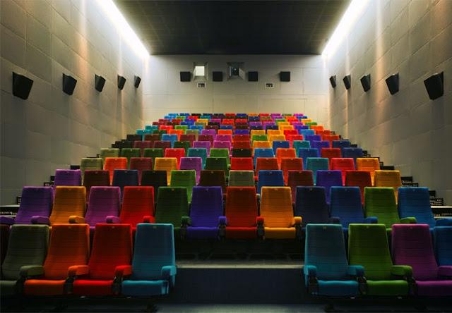 Cinema a noite em Dublin