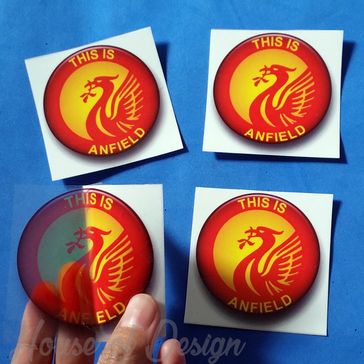 STICKER TRANSPARAN THIS IS ANFIELD MANCHESTER UNITED CUSTOM