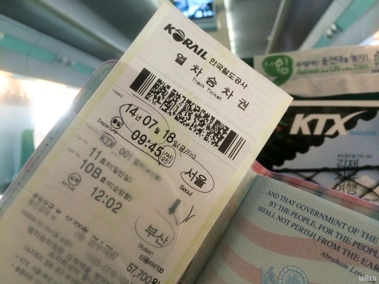 Seoul, Korea - Summer Study Abroad 2014 - Korail Ticket to Busan