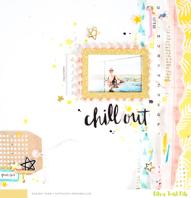 Chill Out by ScatteredConfetti. // #scrapbooking #layout #citrustwistkits #cratepaper