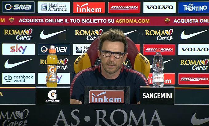la conferenza stampa pre Cagliari Roma di Eusebio di Francesco