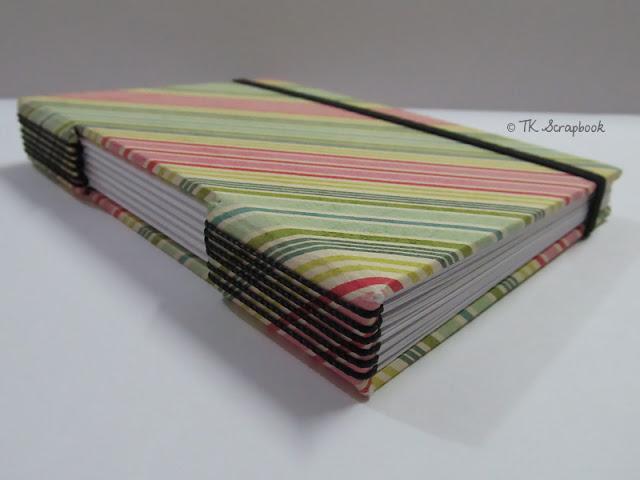caderno scrapbook encadernação longstitch
