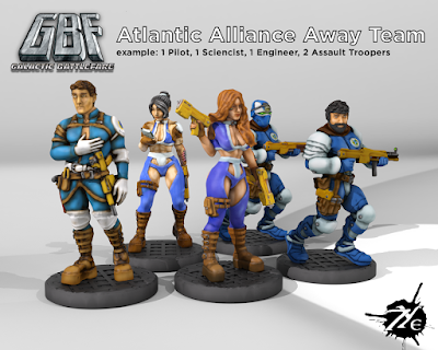 Galactic Battlefare Atlantic Alliance Away Team