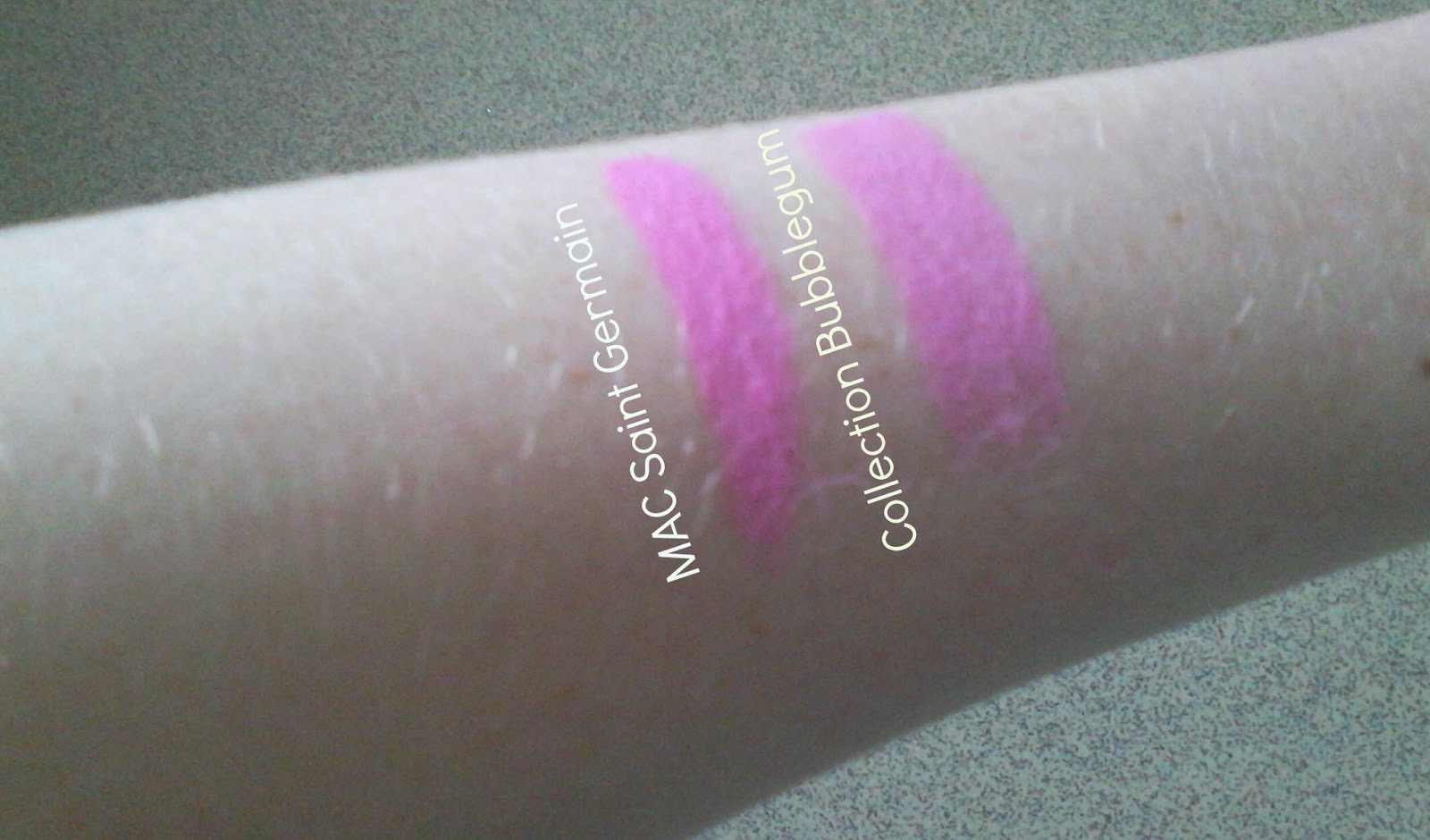 MAC Saint Germain Lipstick Dupe Swatches