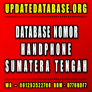 Jual Database Nomor Handphone Sumatera Tengah
