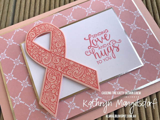 Stampin' Up! Ribbon of Courage and Support Ribbon Framelits created by Kathryn Mangelsdorf