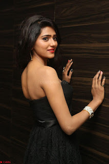 Shalu Chourasiya in spicy Sleeveless Strapless Black Top at O Pilla Nee Valla Movie Audio Launch Feb 2017 079.JPG