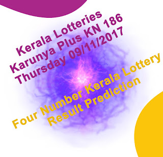 Kerala Lottery Result Tomorrow Guessing Number 09-11-2017 Karunya Plus KN-186