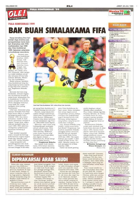 PIALA KONFEDERASI 1999 BAK BUAH SIMALAKAMA FIFA