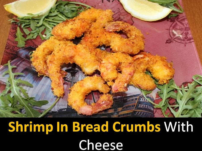 Shrimp In Bread Crumbs With Cheese