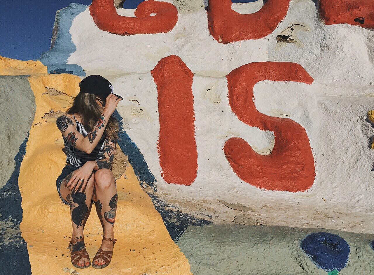 Why Is It So Hard To Be A Woman? (Me at Salvation Mountain)
