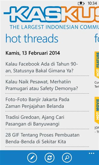 Screenshot Kaskus For Windows Phone