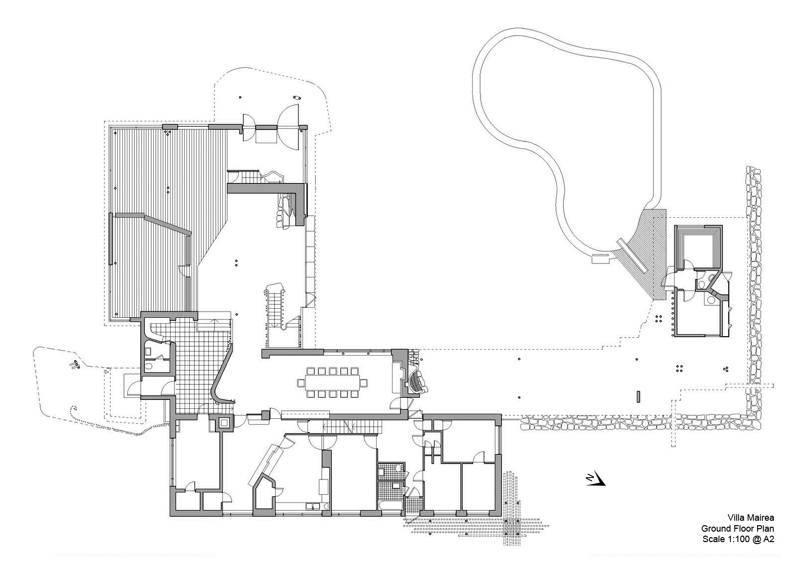 Design Studio 3: Villa Mairea Final Ground Floor plans