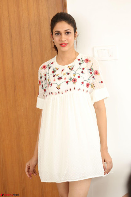 Lavanya Tripathi in Summer Style Spicy Short White Dress at her Interview  Exclusive 159.JPG