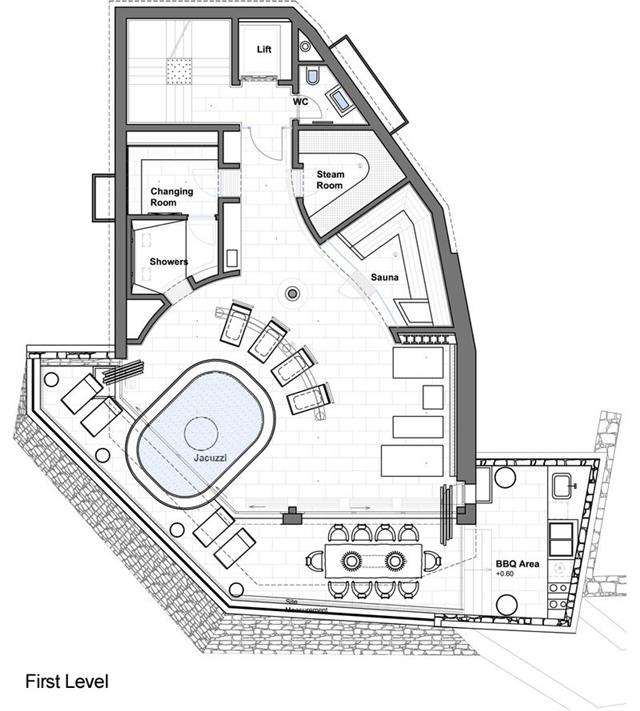 First level mountain home floor plan